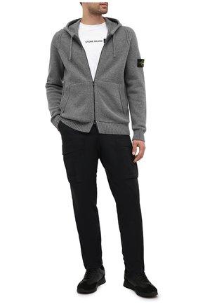 Мужская шерстяной кардиган STONE ISLAND серого цвета, арт. 7315501A3 | Фото 2