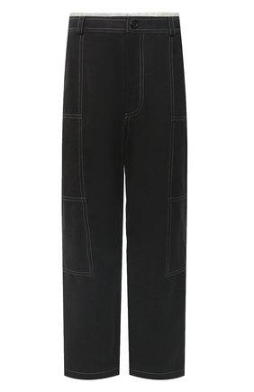 Мужские хлопковые брюки JACQUEMUS темно-серого цвета, арт. 206PA08/150930   Фото 1 (Длина (брюки, джинсы): Стандартные; Материал внешний: Хлопок; Материал подклада: Вискоза; Случай: Повседневный; Стили: Минимализм)