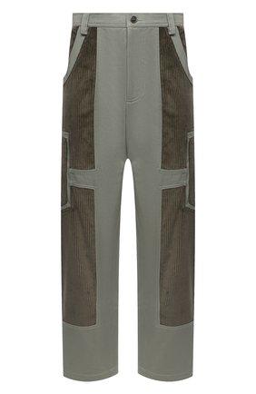 Мужские хлопковые брюки JACQUEMUS зеленого цвета, арт. 206PA06/205540 | Фото 1 (Длина (брюки, джинсы): Стандартные; Материал внешний: Хлопок; Случай: Повседневный; Стили: Минимализм)