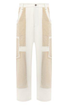Мужской хлопковые брюки JACQUEMUS белого цвета, арт. 206PA06/125110 | Фото 1