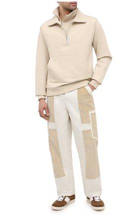 Мужской хлопковые брюки JACQUEMUS белого цвета, арт. 206PA06/125110 | Фото 2