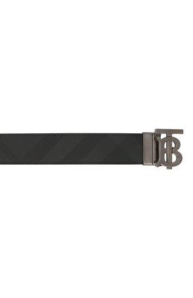 Мужской ремень BURBERRY темно-серого цвета, арт. 8033953 | Фото 3