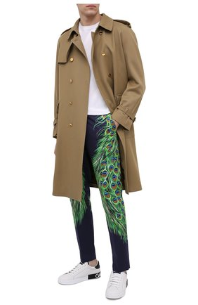 Мужской хлопковые брюки DOLCE & GABBANA разноцветного цвета, арт. GY6IET/FPF0G | Фото 2
