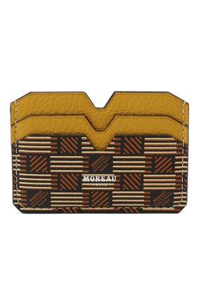 Мужской кожаный футляр для кредитных карт MOREAU коричневого цвета, арт. PW4C01TIV0CLSQCE | Фото 1