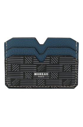 Мужской кожаный футляр для кредитных карт MOREAU синего цвета, арт. PW4C01TIV0BLK3CE | Фото 1