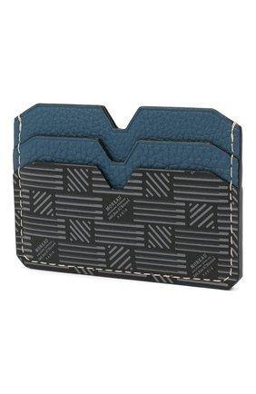Мужской кожаный футляр для кредитных карт MOREAU синего цвета, арт. PW4C01TIV0BLK3CE | Фото 2