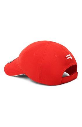 Мужской хлопковая бейсболка BALENCIAGA красного цвета, арт. 640209/410B2 | Фото 2