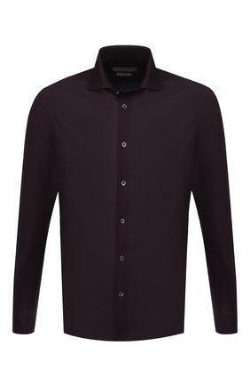 Мужская хлопковая сорочка CORNELIANI бордового цвета, арт. 86P012-0811224/00 | Фото 1