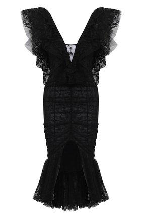 Женское платье ALESSANDRA RICH черного цвета, арт. FAB2203-P2989 | Фото 1