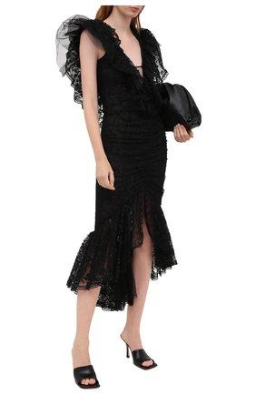 Женское платье ALESSANDRA RICH черного цвета, арт. FAB2203-P2989 | Фото 2