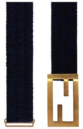 Женский текстильный пояс FENDI синего цвета, арт. 8C0621 ADLM   Фото 2