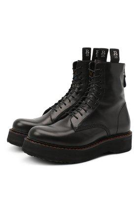 Женские кожаные ботинки R13 черного цвета, арт. R13S0002-018   Фото 1