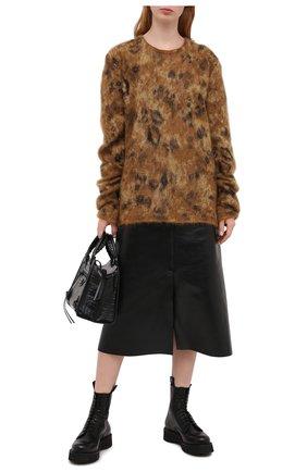 Женские кожаные ботинки R13 черного цвета, арт. R13S0002-018   Фото 2