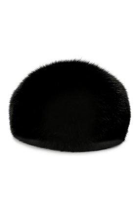 Женский берет из меха песца KUSSENKOVV черного цвета, арт. 15000002008 | Фото 2
