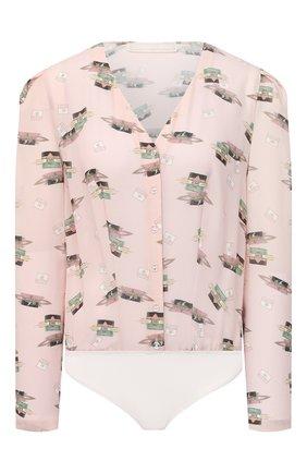 Женское боди ULYANA SERGEENKO розового цвета, арт. BDY002FW20P 1306т20 | Фото 1
