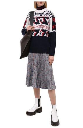Женский свитер из шерсти и кашемира BOGNER синего цвета, арт. 81852761 | Фото 2