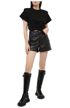 Женская хлопковый топ ISABEL MARANT черного цвета, арт. TS0749-20A036I/BELITA | Фото 2
