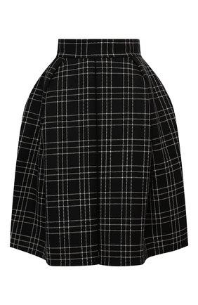 Женская шерстяная юбка ALEXANDER MCQUEEN черного цвета, арт. 639948/QJABX | Фото 1