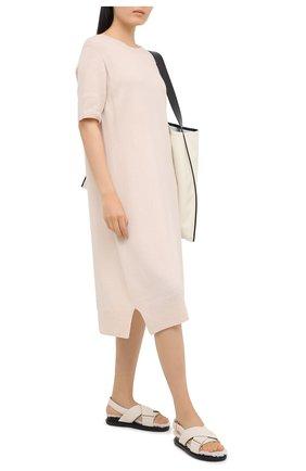 Женское платье из шерсти и кашемира THE ROW бежевого цвета, арт. 5357Y184 | Фото 2