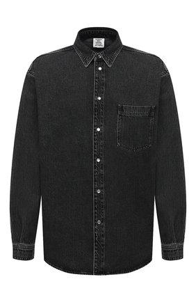 Мужская джинсовая рубашка VETEMENTS черного цвета, арт. UAH21SH043 2801/M | Фото 1