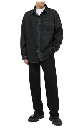 Мужская джинсовая рубашка VETEMENTS черного цвета, арт. UAH21SH043 2801/M | Фото 2