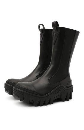 Женские кожаные ботинки delphi VERSACE черного цвета, арт. DST522H/DVTA3 | Фото 1