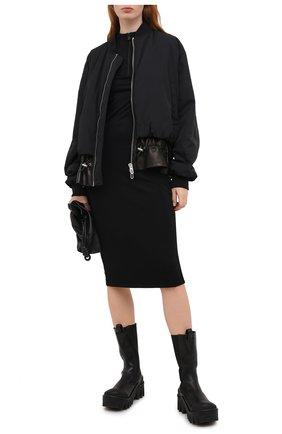 Женские кожаные ботинки delphi VERSACE черного цвета, арт. DST522H/DVTA3 | Фото 2
