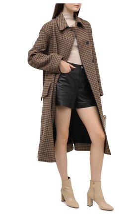 Женские кожаные ботильоны lou SAINT LAURENT кремвого цвета, арт. 640667/1Y800   Фото 2