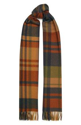 Мужские кашемировый шарф royal LORO PIANA коричневого цвета, арт. FAL4328 | Фото 1
