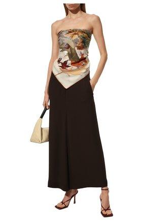 Женская шаль из кашемира и шелка LORO PIANA бежевого цвета, арт. FAL4106 | Фото 2