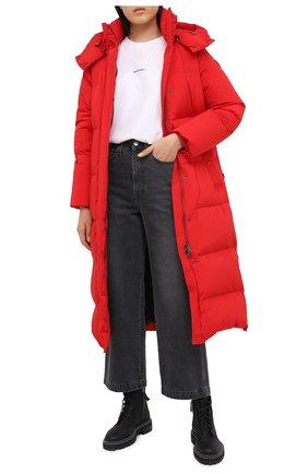 Женский пуховик WOOLRICH красного цвета, арт. CFWW0U0312FR/UT1148 | Фото 2