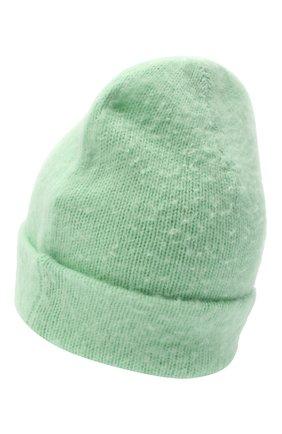 Женская шерстяная шапка ACNE STUDIOS светло-зеленого цвета, арт. C40111/W | Фото 2