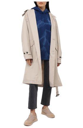 Женская хлопковое худи ACNE STUDIOS синего цвета, арт. AI0062 | Фото 2