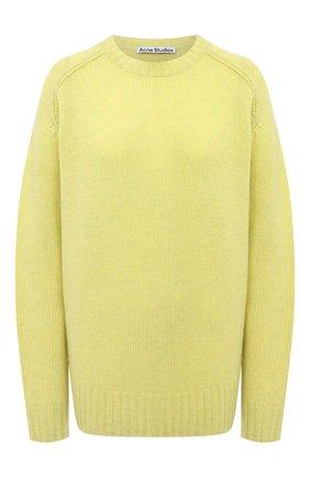 Женский шерстяной свитер ACNE STUDIOS желтого цвета, арт. A60192   Фото 1