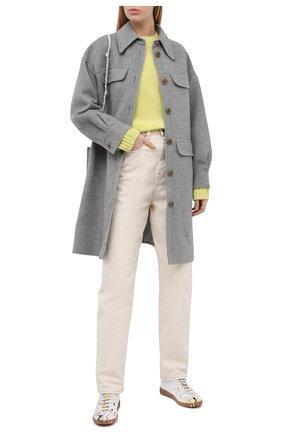 Женский шерстяной свитер ACNE STUDIOS желтого цвета, арт. A60192   Фото 2