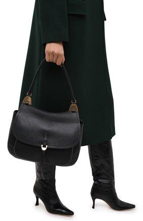 Женская сумка fauve large COCCINELLE черного цвета, арт. E1 G00 12 01 01 | Фото 2