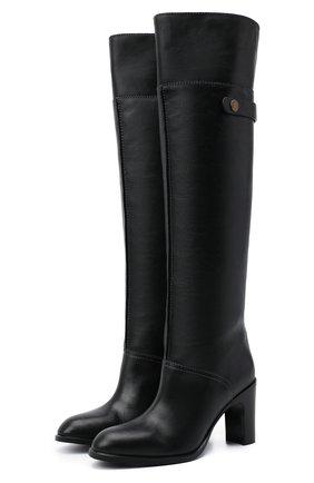 Женские кожаные сапоги liz SEE BY CHLOÉ черного цвета, арт. SB35005A/12001 | Фото 1