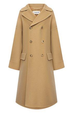 Женское шерстяное пальто LANVIN бежевого цвета, арт. RM-0U0407-4337-H20   Фото 1