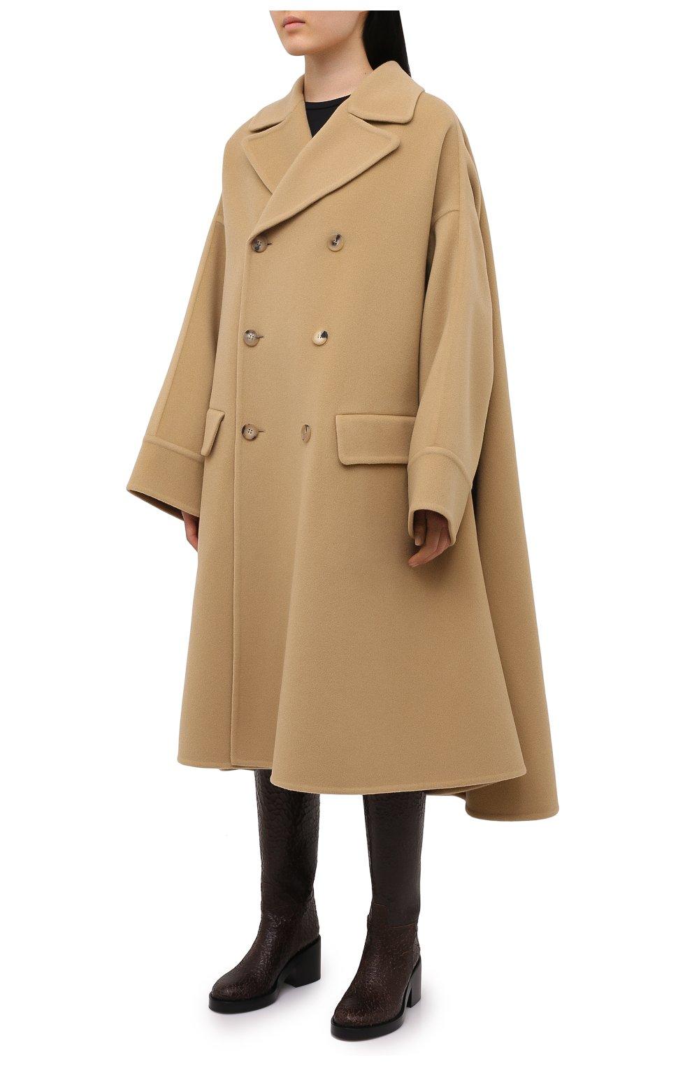 Женское шерстяное пальто LANVIN бежевого цвета, арт. RM-0U0407-4337-H20   Фото 3