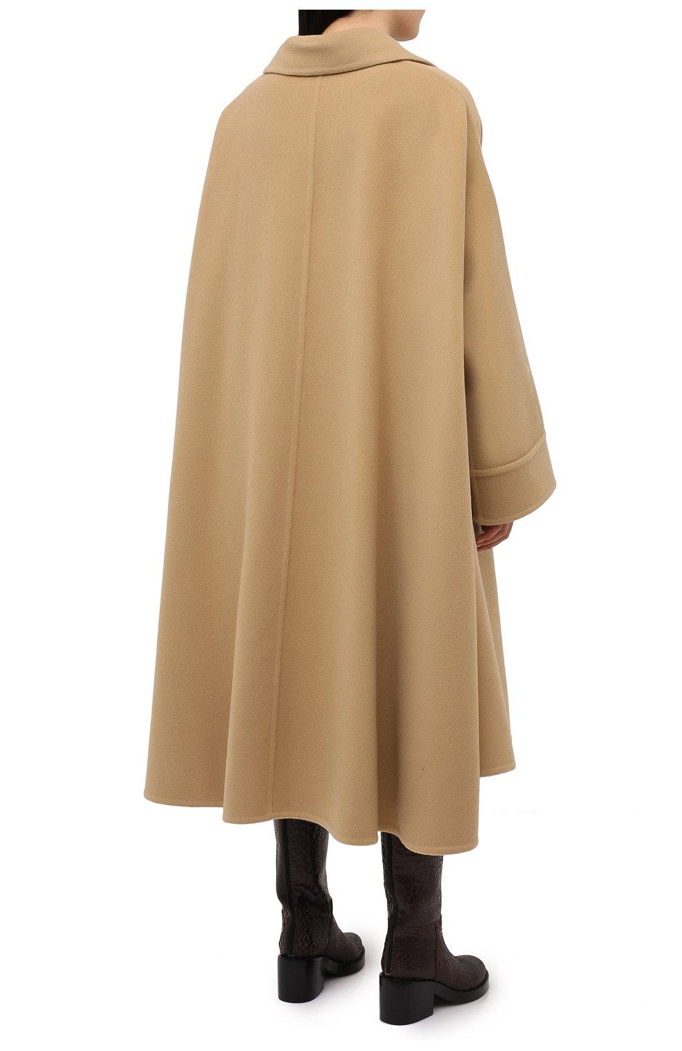 Женское шерстяное пальто LANVIN бежевого цвета, арт. RM-0U0407-4337-H20   Фото 4