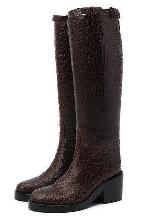 Женские кожаные сапоги ANN DEMEULEMEESTER коричневого цвета, арт. 2014-2802-355-068   Фото 1