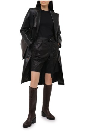 Женские кожаные сапоги ANN DEMEULEMEESTER коричневого цвета, арт. 2014-2802-355-068   Фото 2