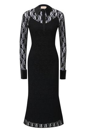 Женское платье CHRISTOPHER KANE черного цвета, арт. PF20 DR3572 FL0WER STRETCH LACE | Фото 1