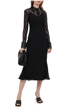 Женское платье CHRISTOPHER KANE черного цвета, арт. PF20 DR3572 FL0WER STRETCH LACE | Фото 2