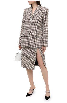 Женская юбка AREA коричневого цвета, арт. PF20S05082 | Фото 2