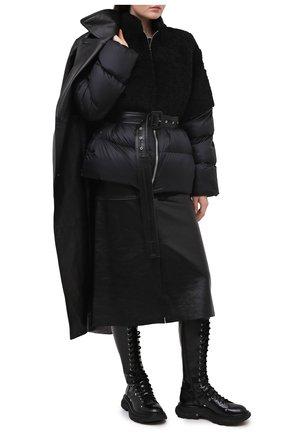 Женский пуховая куртка moncler + rick owens RICK OWENS черного цвета, арт. MU20F0003/A0161 | Фото 2