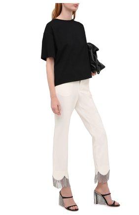 Женские текстильные мюли  AREA черного цвета, арт. PF20F02 | Фото 2