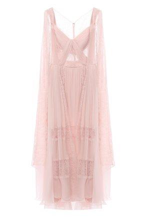 Женское шелковое платье ZUHAIR MURAD светло-розового цвета, арт. DRP20015/CHSI003 | Фото 1