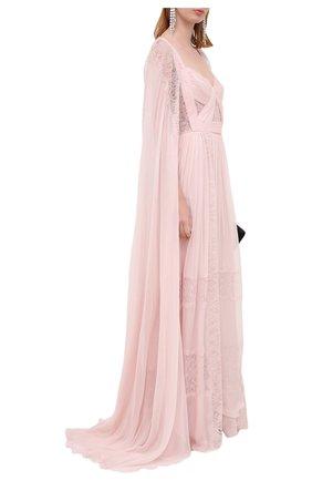 Женское шелковое платье ZUHAIR MURAD светло-розового цвета, арт. DRP20015/CHSI003 | Фото 2