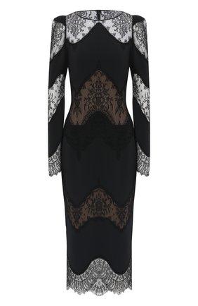 Женское платье из вискозы ZUHAIR MURAD черного цвета, арт. DRP20013/CRCA007 | Фото 1